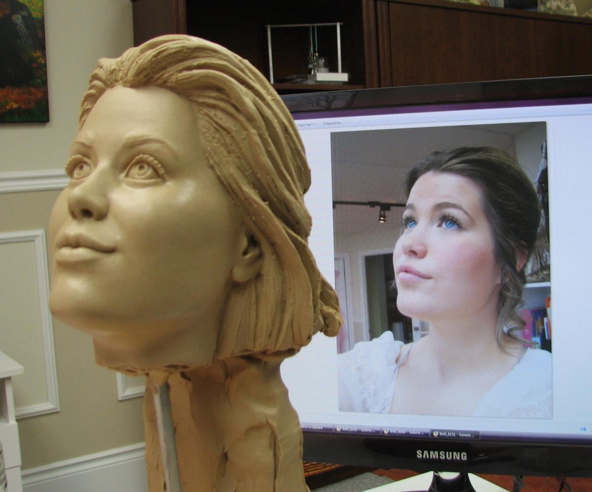 portrait de l'ange de L'Envol, a partir de  modèle en studio